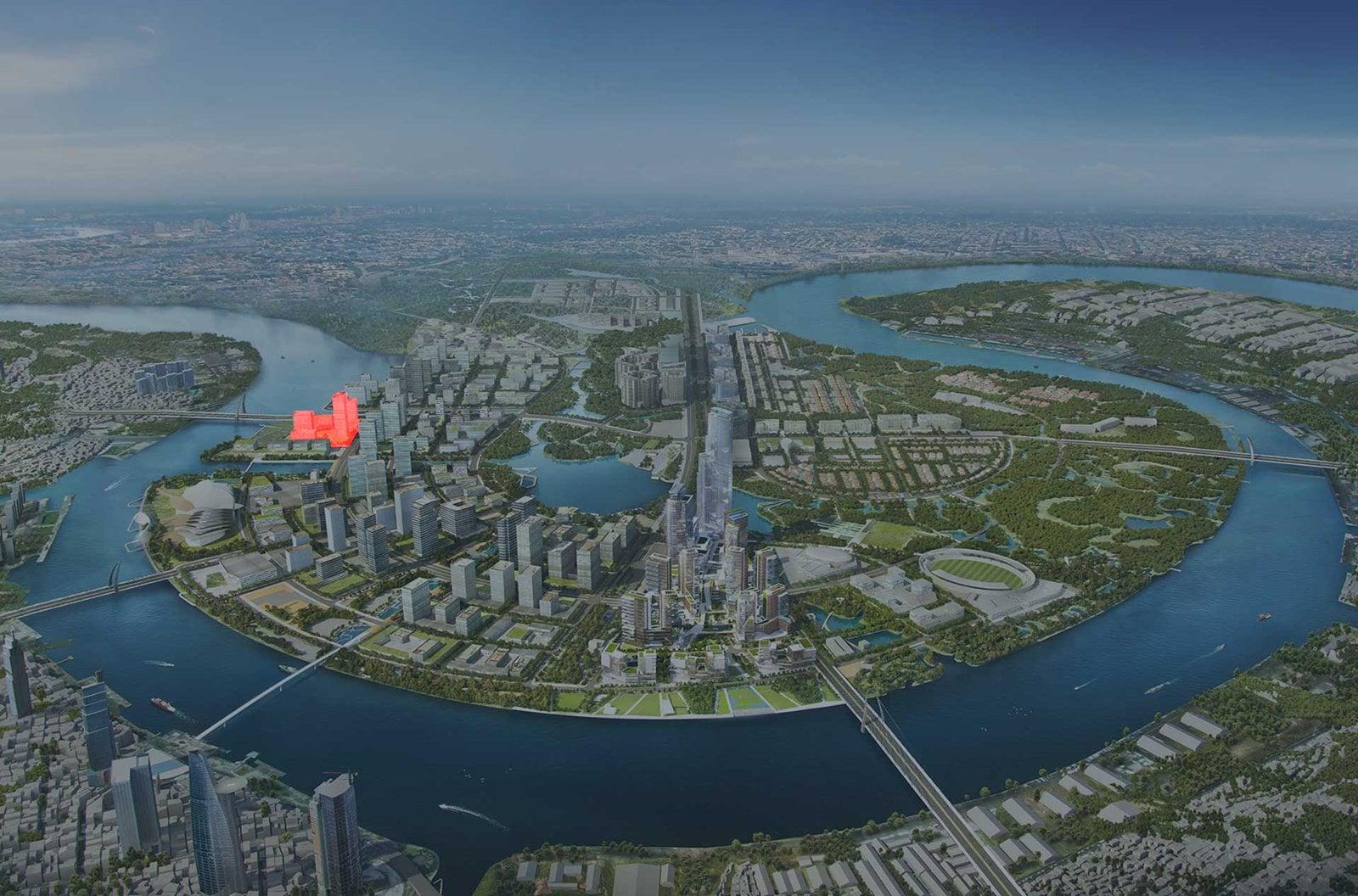 Vị trí dự án The Riverin Thủ Thiêm nằm ở đâu?