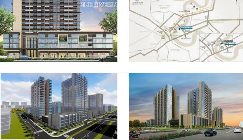 Một số hình phối cảnh dự án The Riverin Thủ Thiêm của Hongkong Land