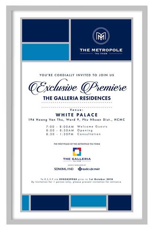 Sự kiện mở bán căn hộ The Metropole Thủ Thiêm