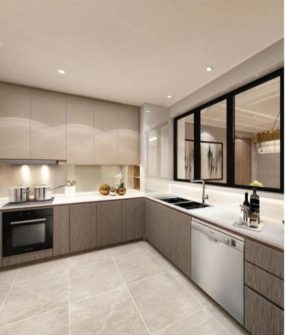 Hình ảnh nhà bếp của căn hộ mẫu