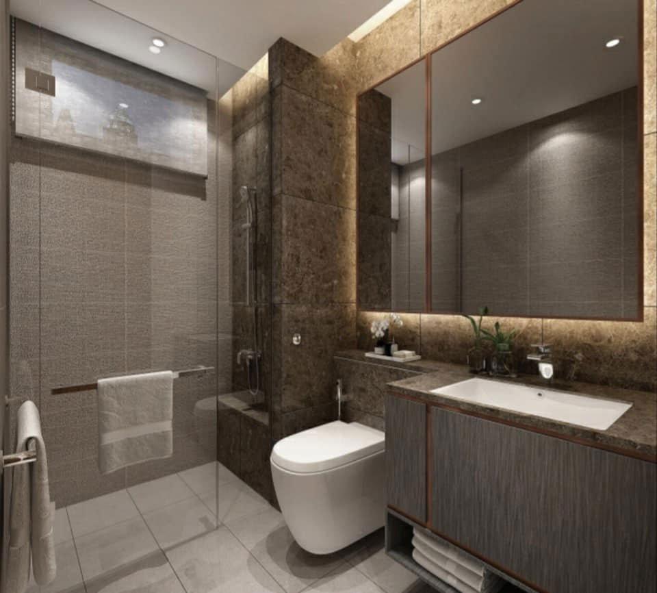 Buồng tắm đứng bên trong căn hộ