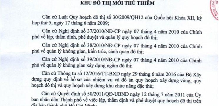 Quy hoạch 1/500 dự án The Riverin Thủ Thiêm