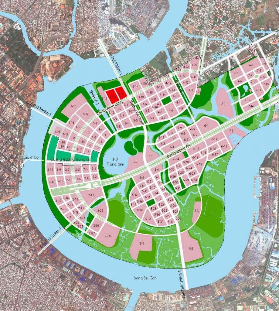 Vị trí dự án The Riverin Thủ Thiêm Quận 2