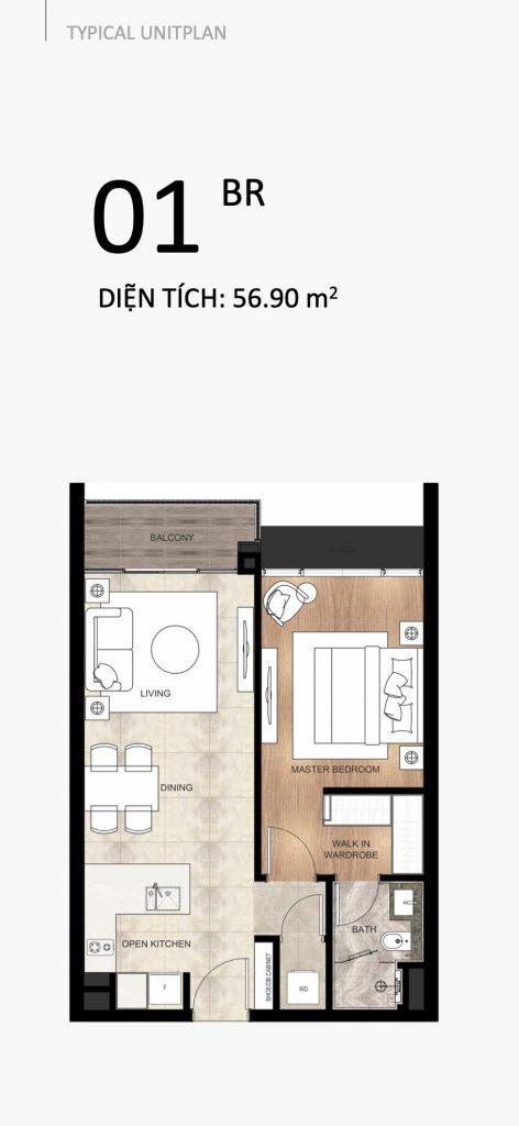 The River Thu Thiem apartment 1 bedroom