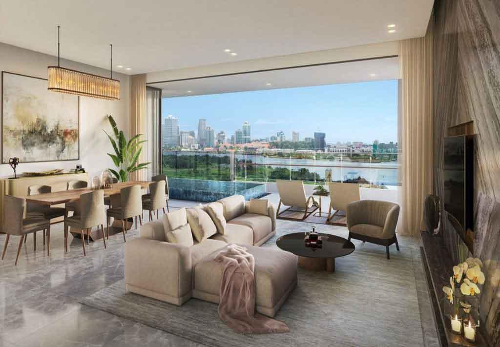 Phòng khách căn hộ The River Thủ Thiêm