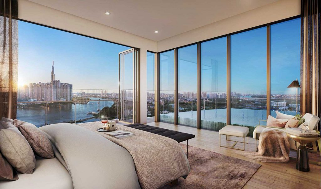 Phòng ngủ căn hộ The River Thủ Thiêm